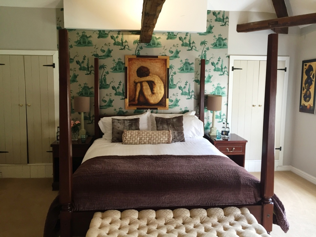One of the bedrooms at Breedon Hall in Derby