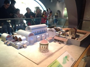 A model shows what the complex would have looked like