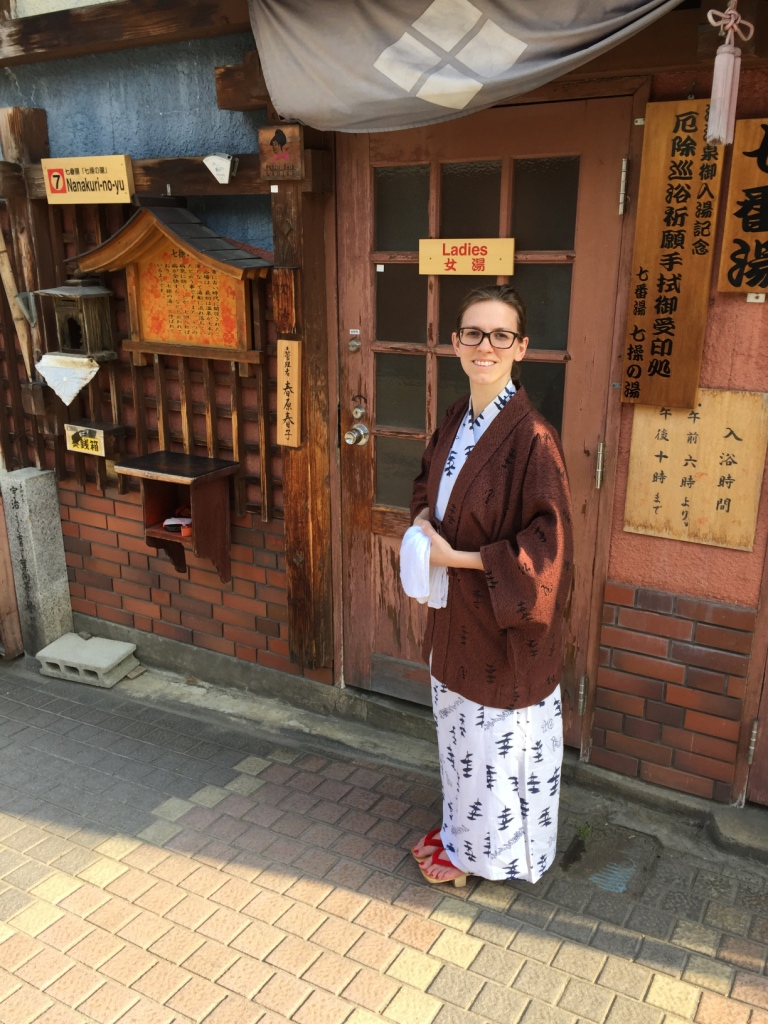 Learning how to use a Japanese onsen