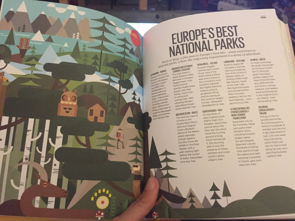 Europe's Best National Parks page of Lonely Planet's The Best Things In Life are Free