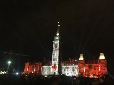 Experiencing a light show in Ottawa